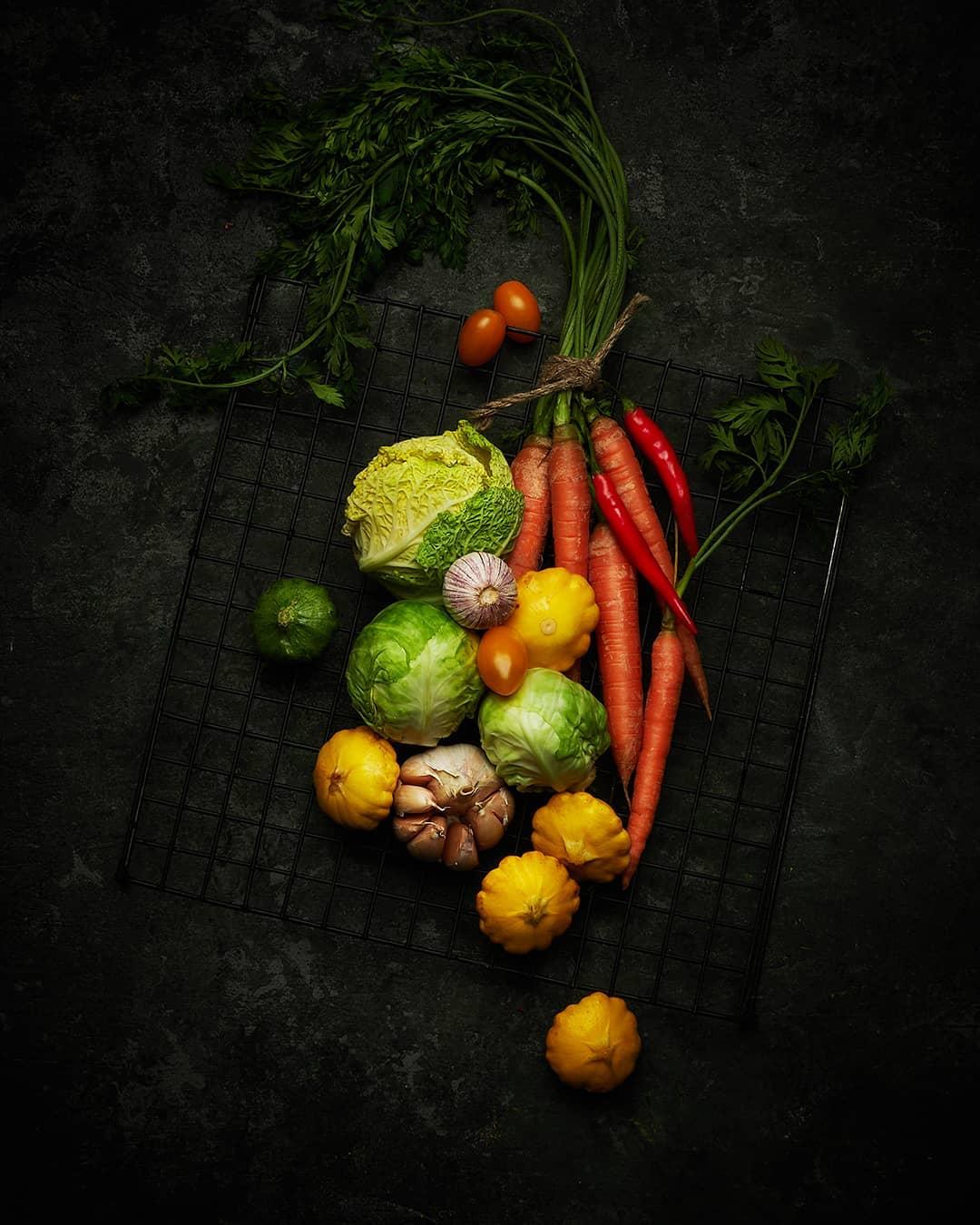 Овощи в оранжевом