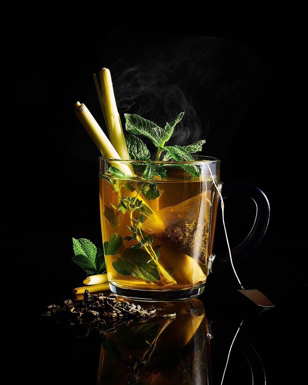Чай с мятой и лемонграсом